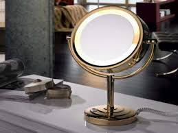 Small Makeup Vanity Design Cordless Lighted Makeup Mirror Led Lighted Mirror