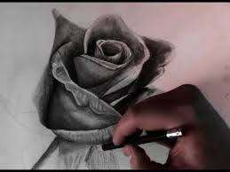 drawing a rose with pencil realistic youtube