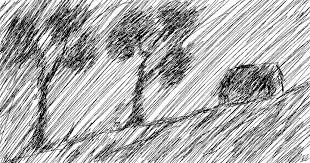 pencil sketch of a scenery desipainters com