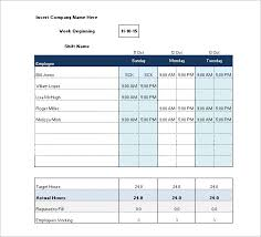 Excel Shift Schedule Template Shift Schedule Template 8 Free Word Excel Pdf Format