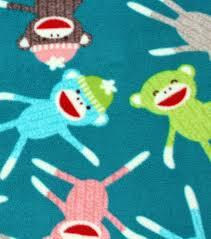 Sock Monkey Bedding Anti Pill Fleece Fabric Sock Monkeys Joann