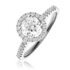 engagement ring uk diamond halo engagement ring 1 00ct 18k white gold engagement