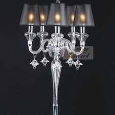 Black And Crystal Table Lamps Square Crystal Table Lamp Shades Come With Chrome Table Lamp Pipe