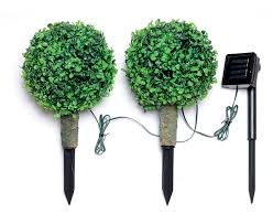 s s mini tree with solar light set of 2