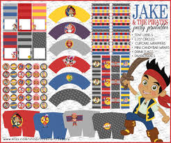 pirate party supplies diy pdf printable jake and the neverland by luxepartysupply