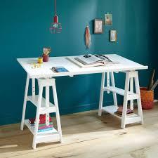 bureau avec treteau bureau treteau ikea finnvard tr teau avec tag re blanc ikea