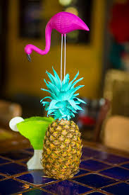 Pineapple Decoration Ideas Kara U0027s Party Ideas Painted Pineapple Centerpiece From A Colorful