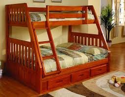 Amazoncom Discovery World Furniture Twin Over Full Bunk Bed With - Wooden bunk beds with drawers