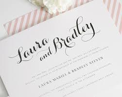 wedding invitations calligraphy blush wedding invitations wedding invitations