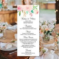 diy wedding menu cards wedding reception menu templates diy stationery cards wedding