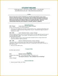 college student cv template word resume resume template for college