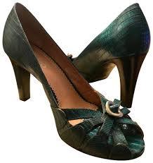 franco sarto teal peep toe pumps size us 7 regular m b tradesy