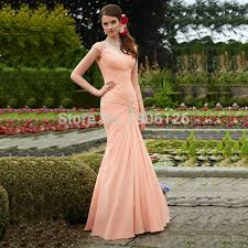 coral dresses for wedding guests modest mermaid coral colored bridesmaid dresses pleated