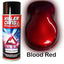 blood red paint alsa killer cans blood red one shot candies candy concentrate