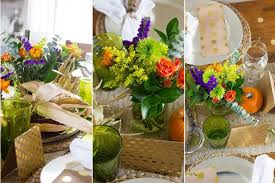 bouquet trio for thanksgiving table centerpiece fresh by ftd