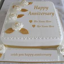 wedding wishes online editing write name happy anniversary cake images wedding anniversary