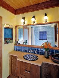 Blue Tile Bathroom by Trendy Twist To A Timeless Color Scheme Bathrooms In Blue And Yellow