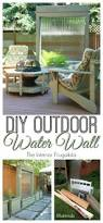 How To Get Pen Off Walls by Diy Outdoor Water Wall The Interior Frugalista Diy Outdoor