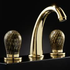 Gold Bathroom Fixtures by Murano 3 Hole Black And Gold Luxury Bathroom Faucet