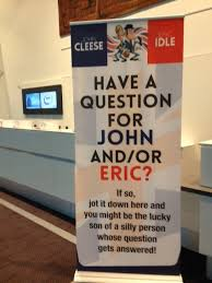 comedy masterclass by john cleese eric idle the ponder room