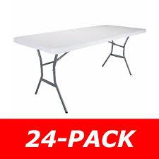lifetime folding tables 6 lifetime folding tables 6 2924 light duty white plastic top 24 pack