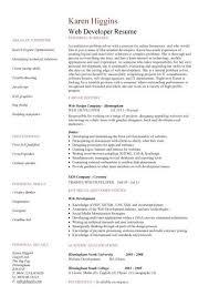 Web Design Resume Example by Entry Level Web Developer Resume Resume Example