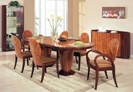 7 Piece Glass Dining Room Set Coaster Brooks Oak Finish Roundoval Dining Table With Single
