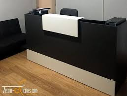 Black Reception Desk Tecno Reception Desk Black And White Finding Desk
