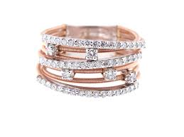 14k gold infinity band criss cross band stackable