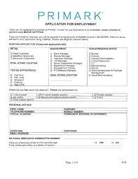 primark jobs application form online job application resume