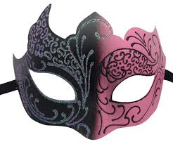 pink masquerade masks pink and black masquerade mask with glitter