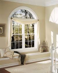 Curved Curtain Rods For Bow Windows Wonderful Arch Window Treatments Ideas Wonderful Bedroom With