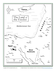 the land of the exodus bible map children u0027s bible activities
