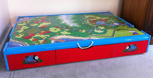 thomas the train wooden table thomas the train under the bed trundle table 75 free