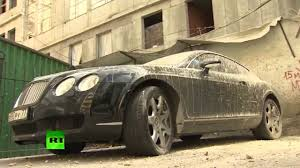 bentley supercar only in russia bentley supercar caked in concrete in moscow youtube