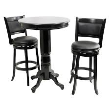 High Top Patio Furniture Set - boraam augusta 3 piece pub table set black sandthru hayneedle