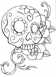 skulls roses coloring pages bestofcoloring