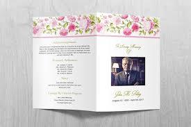 funeral brochure template printable funeral program template