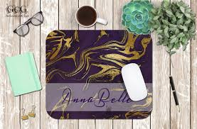 Purple And Green Home Decor by Purple And Gold Marble Mouse Mat Marble Mousepad Custom Mouse
