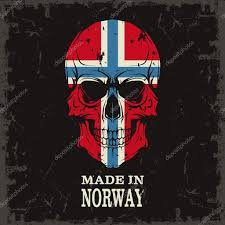 skull with norway flag u2014 stock vector konahinab 79392382