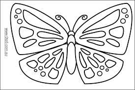 butterfly outline to colour print coloring pages butterfly outline