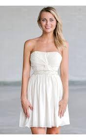 beige strapless dress cute rehearsal dinner dress cute bridal