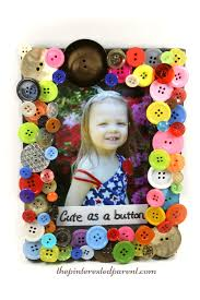 cute as a button picture frame u2013 the pinterested parent