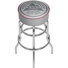 coors light bar stools sale amazon com coors light chrome bar stool with swivel sports