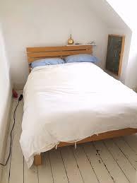 habitat bed frame beech veneer good condition in cambridge