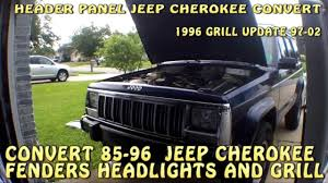 jeep models 2000 jeep cherokee xj newer style grill and header panel conversion