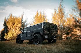 jeep hummer matte black customized hummer h1 exclusive motoring miami fl exclusive