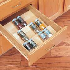 In Drawer Spice Racks Home Decorators Collection 13x1 5x19 In Spice Drawer Insert For