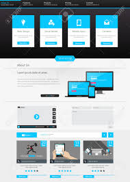 one page business website template home page design clean