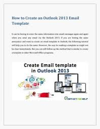 create an email template in outlook 2013 by lisa heydon issuu